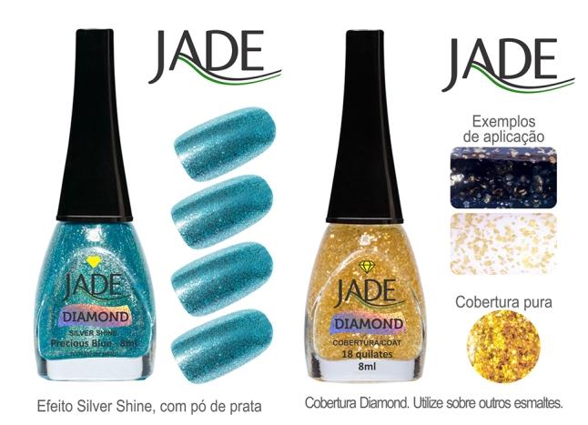 Esmalte JADE Diamond 5819 Precious Blue RGB amostra de cor