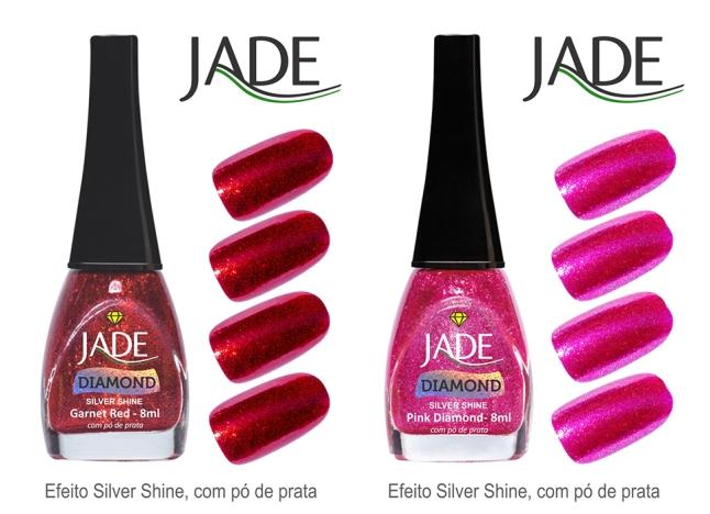 Esmalte JADE Diamond 5820 Garnet Red RGB amostra de cor