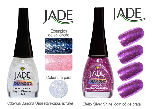 Esmalte JADE Diamond 5822 Liquid Diamond RGB amostra de cor