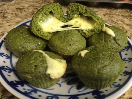 Muffin espinafre